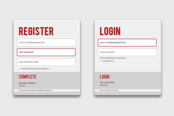 Medico Register Login Forms