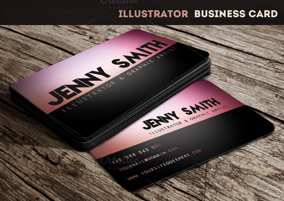 Illustrator business card business card templates on for Business card template illustrator