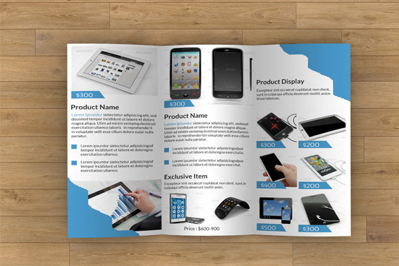 Product Display Trifold