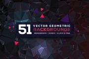 51 Vector Geometric Backgro-Graphicriver中文最全的素材分享平台