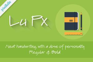 Lu Px natural handwriting font