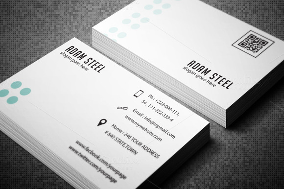 Simple Minimal Business Card ~ Business Card Templates on ...