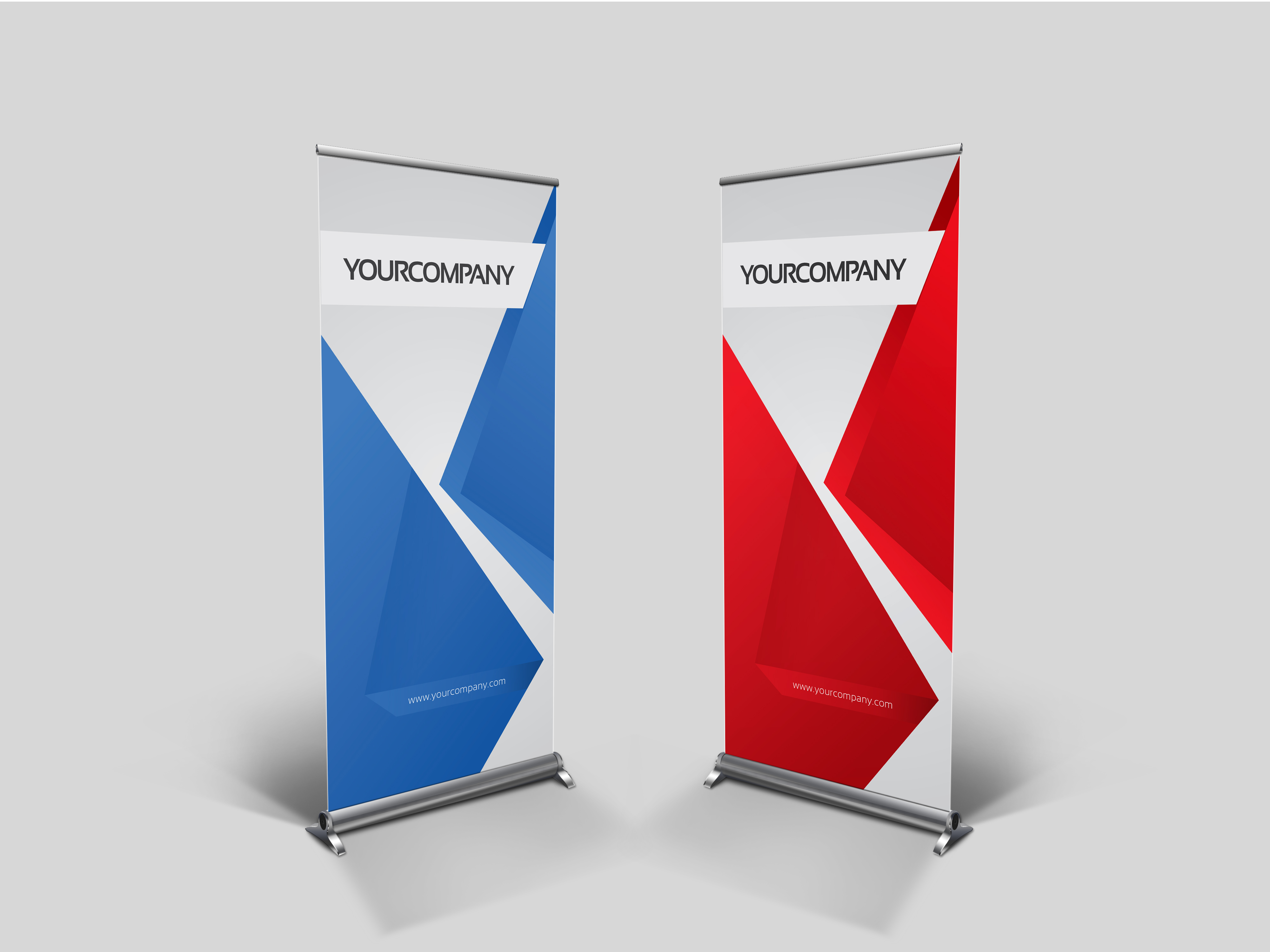 Business roll up banner v001 presentation templates on for Company design