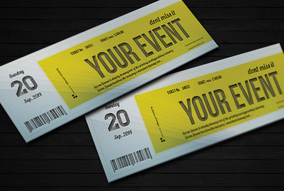 this is very easy to use ticket template ready for edit it will help
