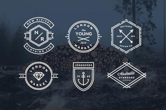 Vintage Line Badges Logo Templates On Creative Market
