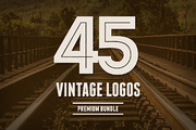 Bundle 45 Vintage Logos &  -Graphicriver中文最全的素材分享平台