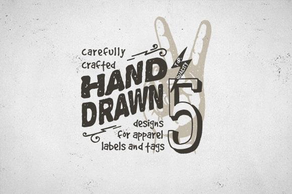 Hand Drawn Apparel Label Designs Logo Templates On
