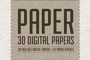 Paper Pack: 30 Digital Papers
