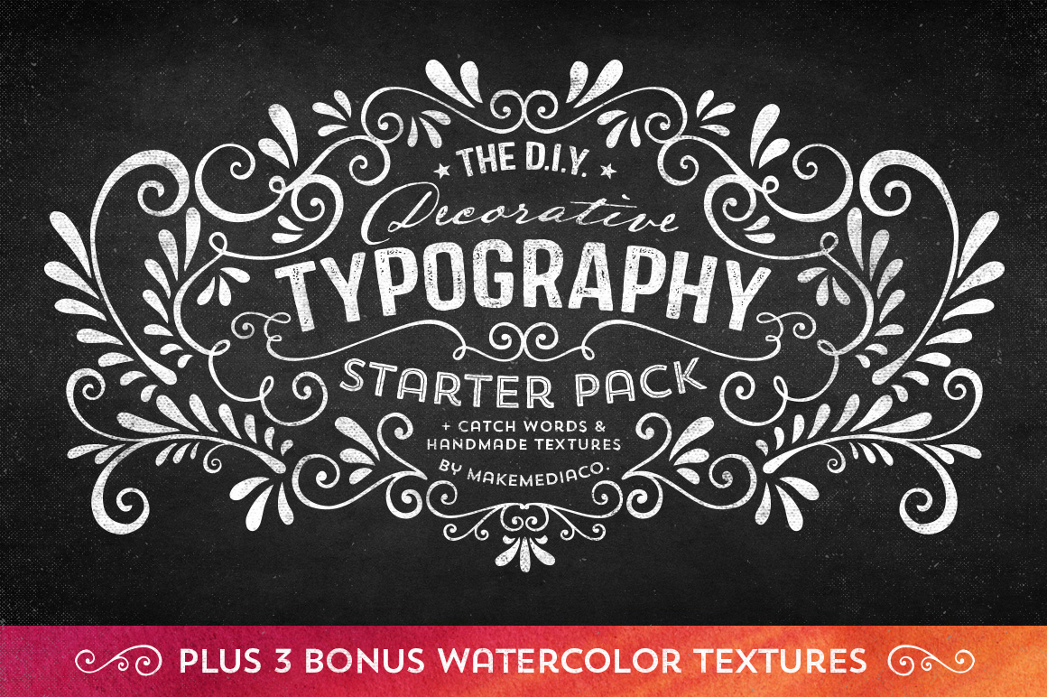 DIY Decorative Typography Pack ~ Illustrations on Creative ...