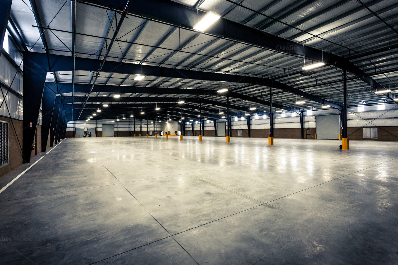 Large Empty Warehouse Industrial Photos On Creative Market