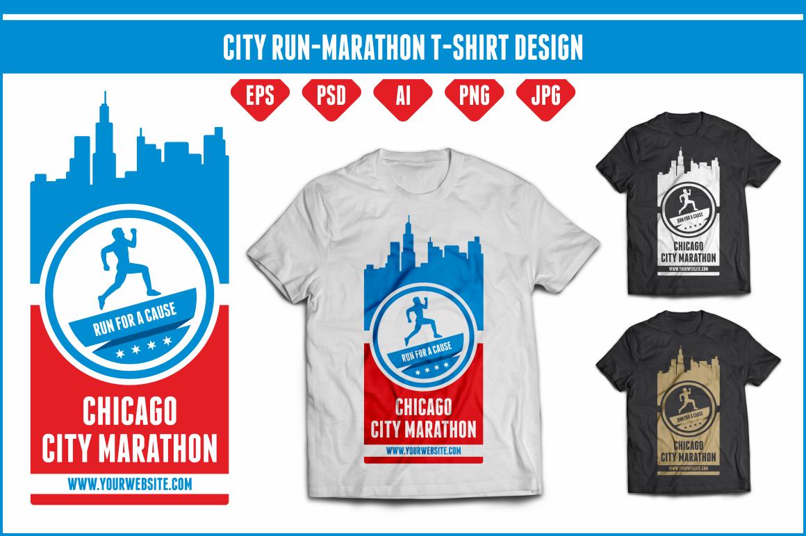 Marathon Running Logos Chicago Run Marathon t Shirt