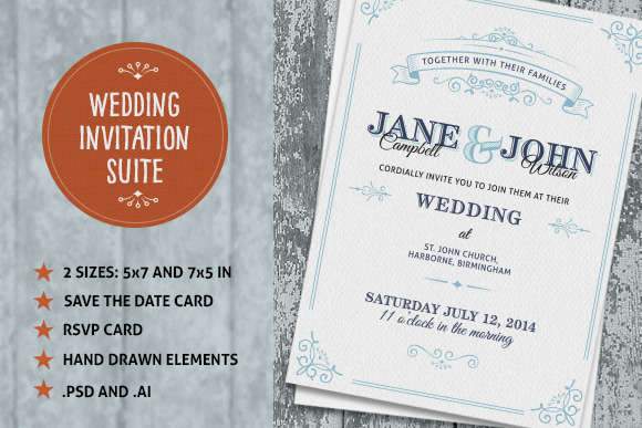 Wedding Invite Suite - Invitations - 1