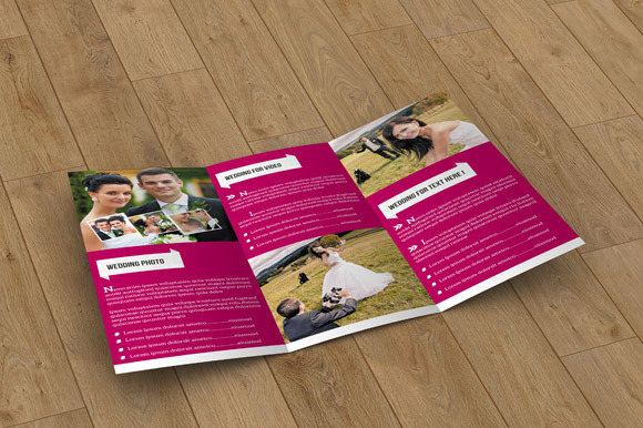 Trifold Brochure for Wedding