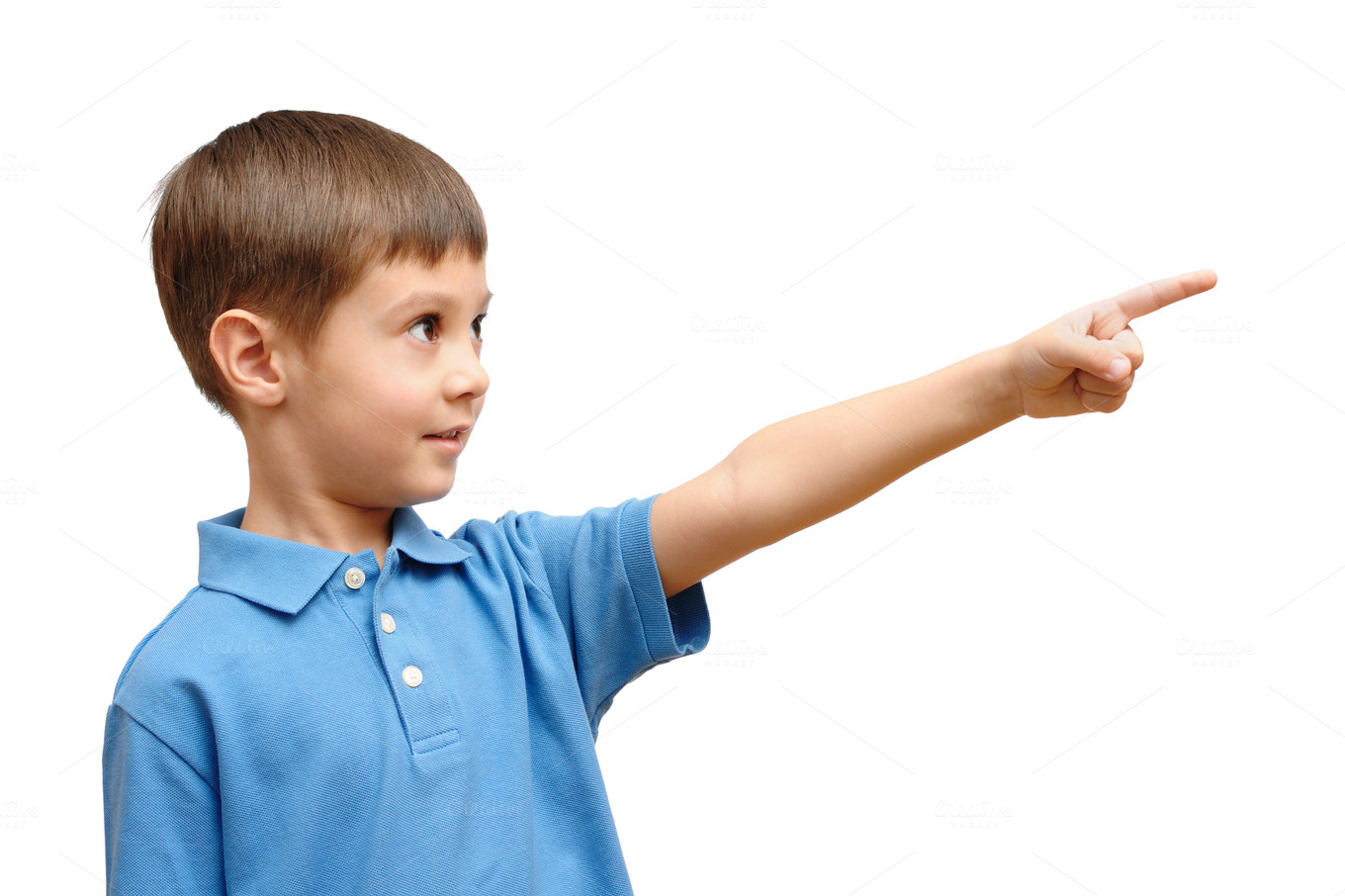 Child pointing his finger ~ People Photos on Creative Market