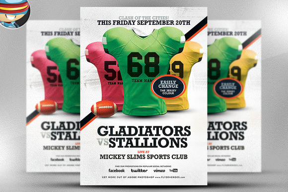 football jersey day at work flyers templates pairs and spares