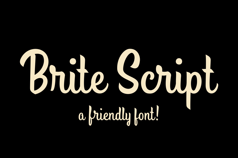 Brite script font free download