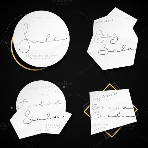 Modern label. Discount sale. Emblem - Objects