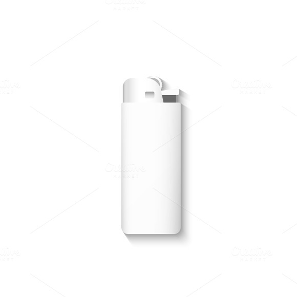 Template lighter isolated. Vector - Objects