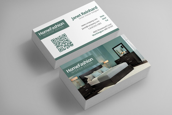 Interior design business cards business card templates on creative market for Interior designers business cards