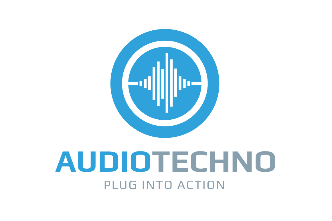 audiotechno logo template