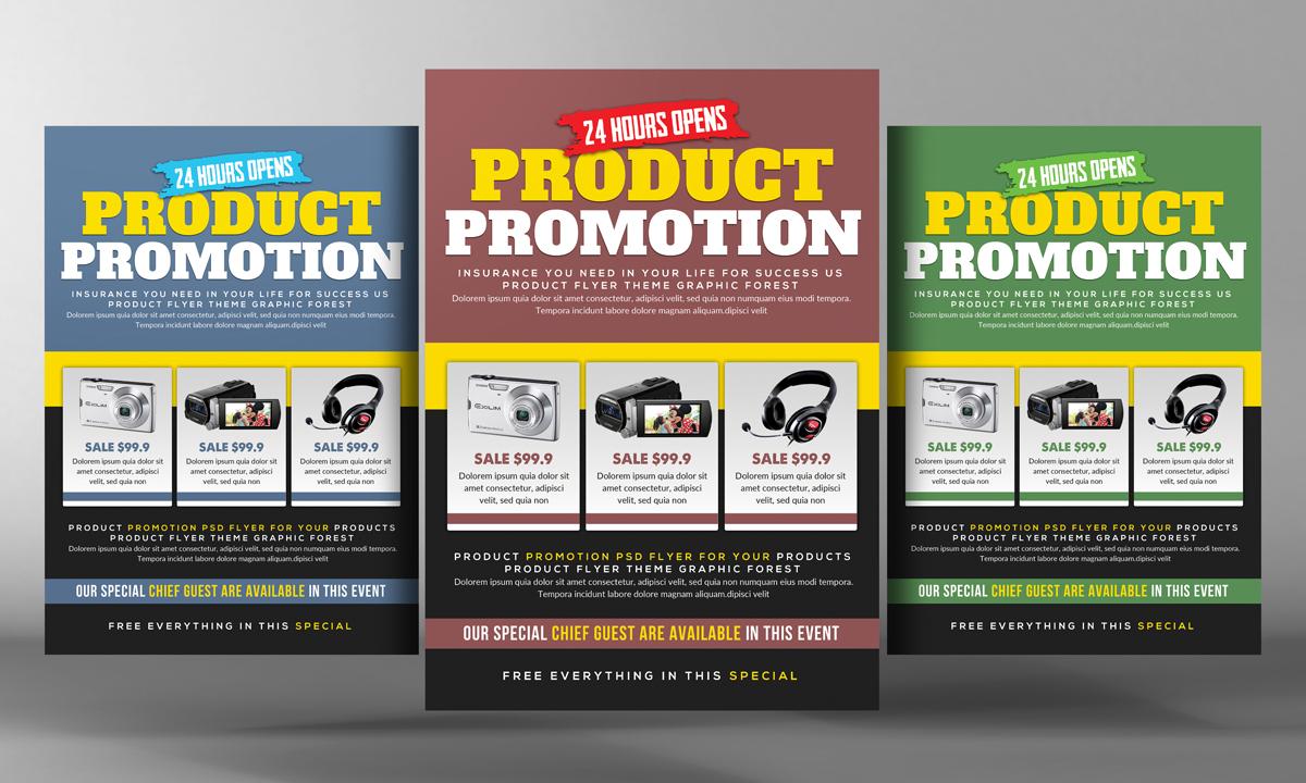 product promotion flyer psd flyer templates on creative market. Black Bedroom Furniture Sets. Home Design Ideas