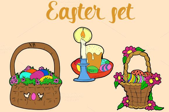 Easter set. Vector  - Illustrations