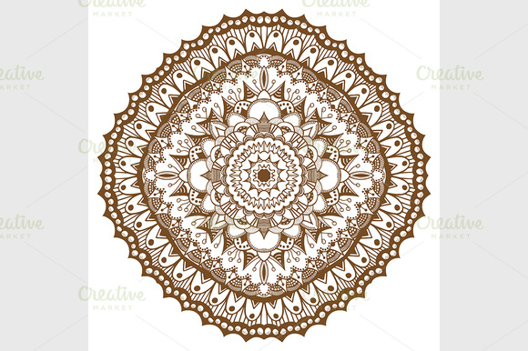 Mandala. Ethnic decorative elements. - Graphics