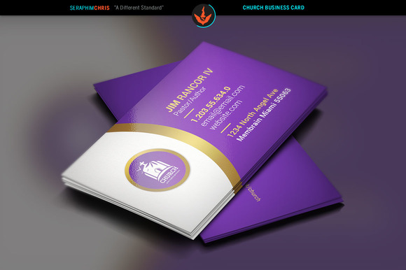 Lavender Church Business Card Business Card Templates on