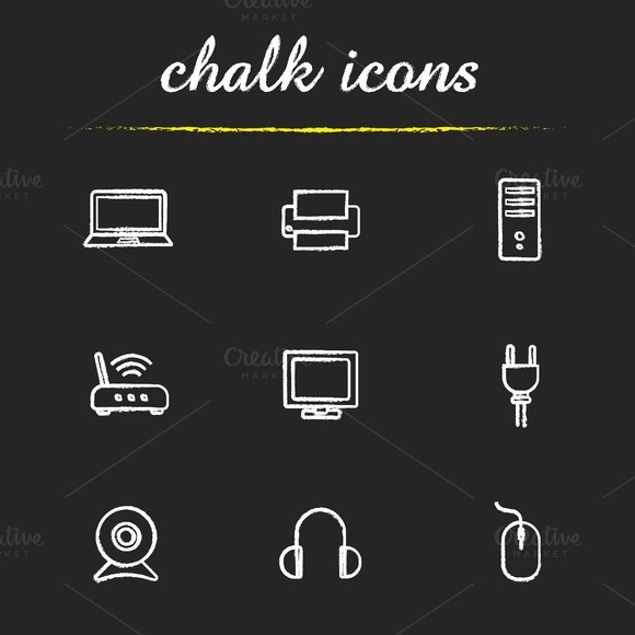 Electronic equipment icons. Vector - Icons