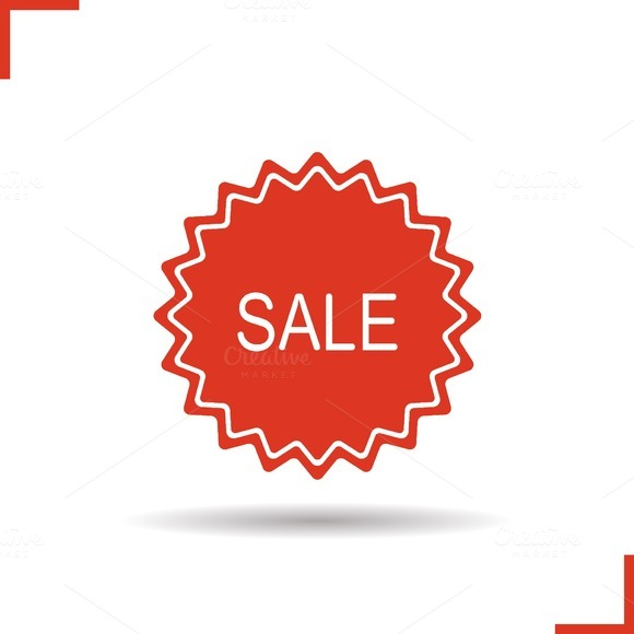 Sale sticker. Vector icon - Icons