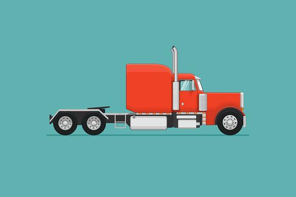 Semi Truck. Vector Illustration - Illustrations