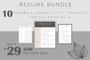 B U N D L E • 10 Resume Te-Graphicriver中文最全的素材分享平台