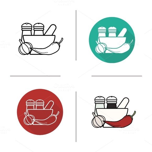 Spices icons. Vector - Icons