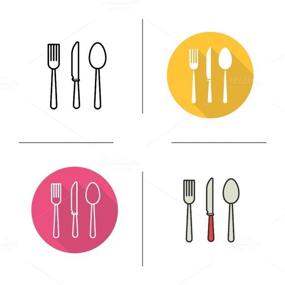 Cutlery icons. Vector - Icons