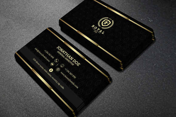 Gold and Black business card 40 Business Card Templates