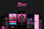 Muzic (Music App UI)-Graphicriver中文最全的素材分享平台
