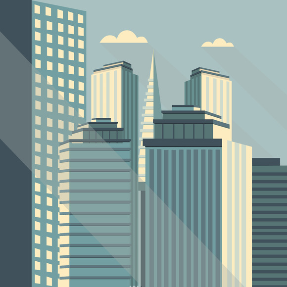 City. Vector illustration - Illustrations