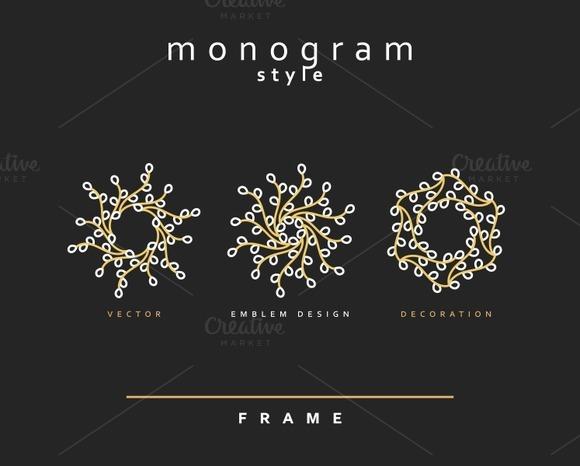 Design element . Emblem design - Objects