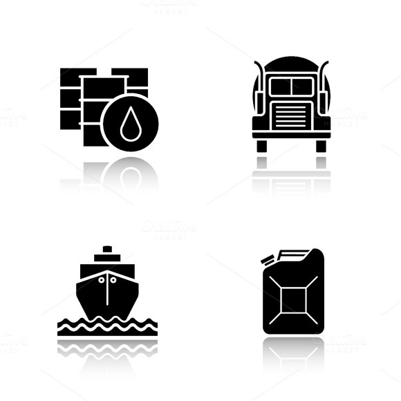Oil industry icons. Vector - Icons
