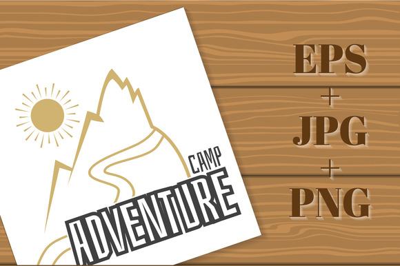 Adventure Camp. Vector emblem camp. - Illustrations