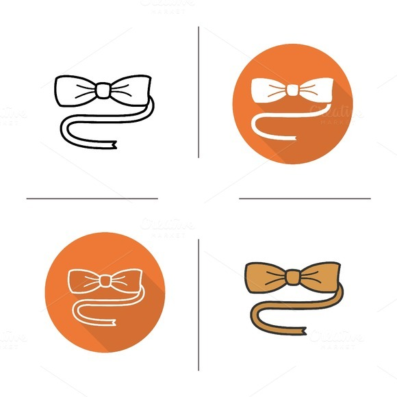 Butterfly tie icons. Vector - Icons