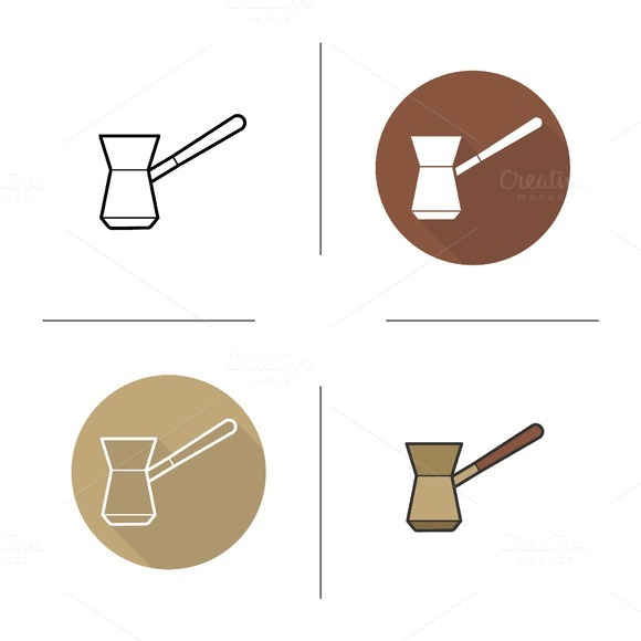 Cezve icons. Vector - Icons