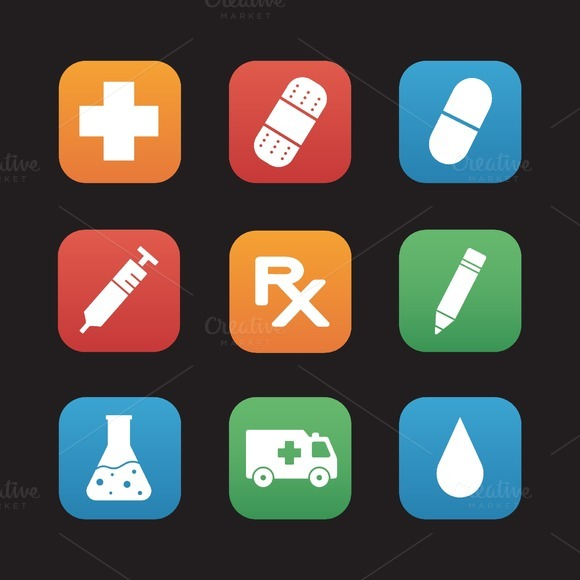 Medical center icons. Vector - Icons