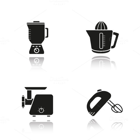 Kitchen appliances icons. Vector - Icons