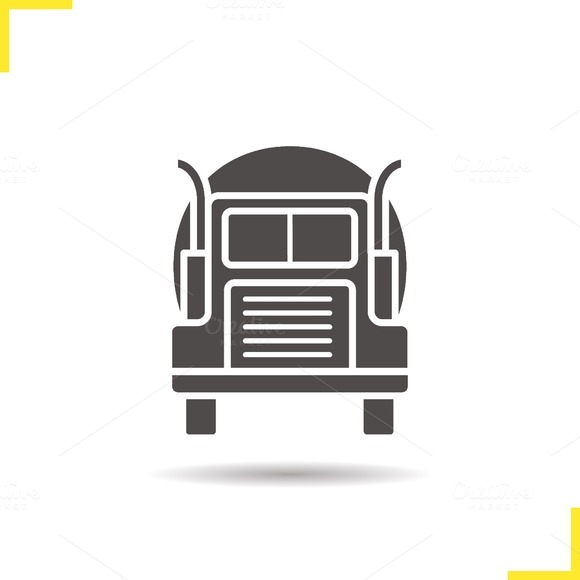 Gasoline tank truck icon. Vector - Icons