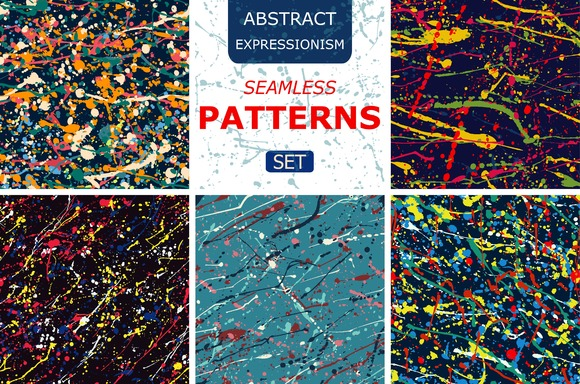 splatter seamless pattern set.Vector - Patterns