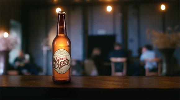 4K video + .psd beer bottle mock-up  - Product Mockups