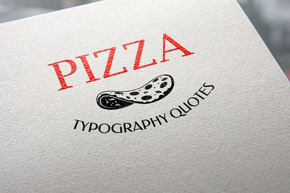 Pizza. Typography quotes. - Illustrations