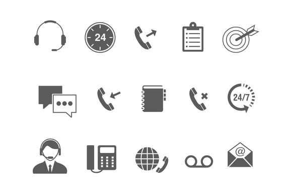 15 Call Center Icons