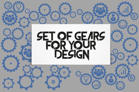 Business mechanism concept. Gears - Graphics